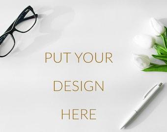 Styled Photography, Styled Mockup, Styled Stock Photo, Product Mockup, Stock Photo, Styled Desk, Styled White Desk, Styled Stock