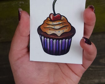 Cupcake Temporary Tattoos