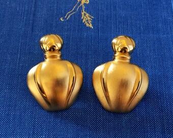 Vintage Christian Dior Poison gold tone Clipon Earrings