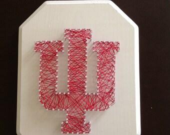 Indiana University logo string art