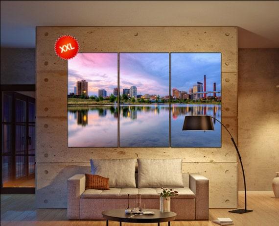 Birmingham, Alabama, USA Skyline  print  on canvas wall art Downtown Birmingham, Alabama, USA photo art work framed art artwork