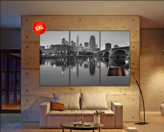 Minneapolis  canvas skyline Minneapolis wall decoration Minneapolis canvas art Minneapolis  wall decor canvas art