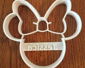 Minnie Mouse PERSONALIZED cookie and fondant cutter