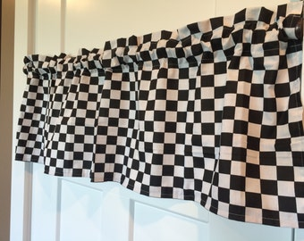 Checkered Flag/ Racing Valance