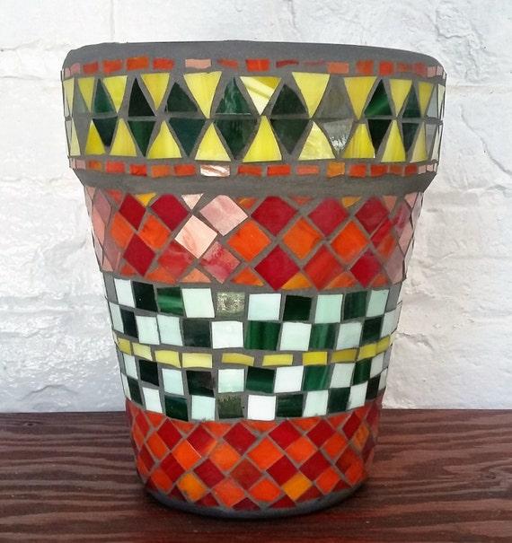 Mosaic flowers pot- Pot à fleurs en mosaïque