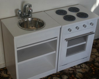Handmade Solid Wood Play Kitchen