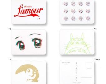 postcards - collectibles -  screenprints - handmade - art