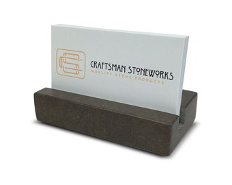 Business card holder white carrara marble by for Marble business card holder