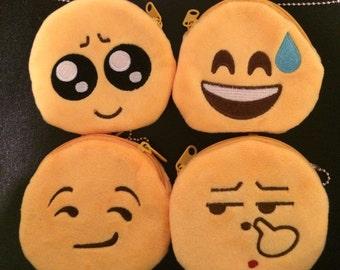 Emoji emotions coin purse, Emoji toys, Emoji emotions, smiley faces, smiley face toys, yellow coin purses, emoji bags, yellow bags, fun toys