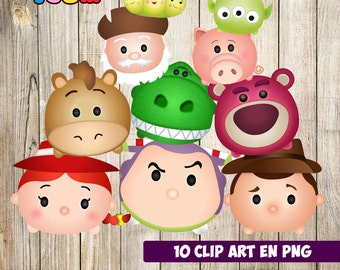 Toy Story Tsum Tsum Characters, Toy Story Tsum Tsum Party, Toy Story Birthday, Baby shower, Party Supplies, Toy Story Characters