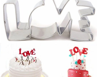 Love Cookie Cutter- Stainless Steel