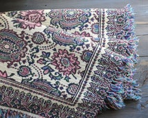 Bohemian Bedspred,  Indian Bedspread, Oriental Tapestry Fabric, Twin Bed Cover, Bohemian Coverlet, Floral Tapestry, Boho Bedspread,