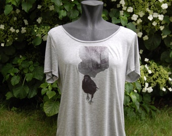 Walking Bird Womens T-shirt