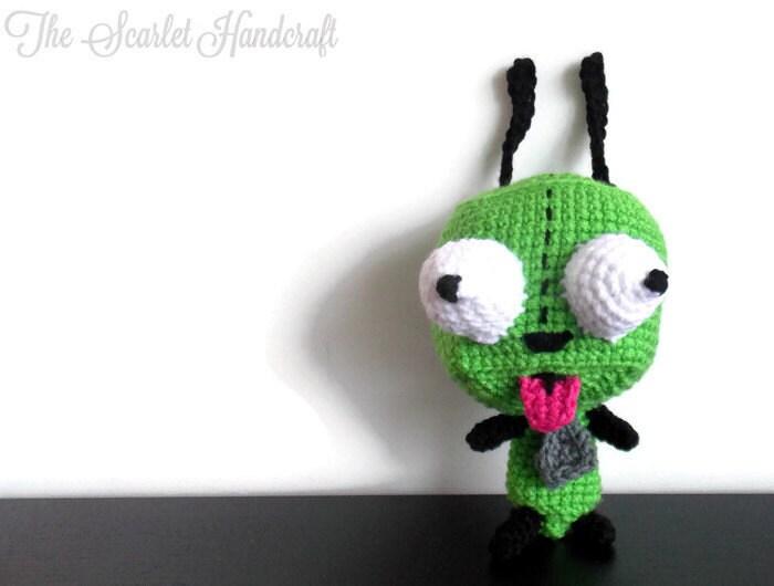 Invader Zim Crochet Plushie Gir Dog Disguise Amigurumi Made