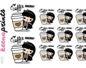 A622 | COFFEE stickers - Wednesday coffee break stickers, emotion stickers, planner stickers, cute stickers, frappe stickers, sstarbucks