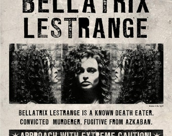 Harry Potter Wanted Bellatrix Lestrange Wanted Poster Wall Mural