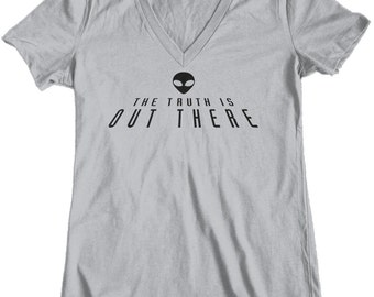 The Truth Is Out There, Womens t shirt, tee shirt, Custom Printed Tee, Alien, X Files