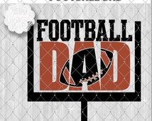 Football Dad SVG Cutting File, Goal Post with Knockout Football Design, Available in Svg, Eps, Dxf and Png formats for Cutting Machines