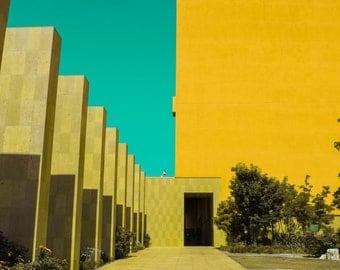 Legorreta Symmetry in Yellow