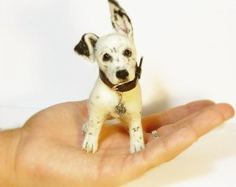 Made to order Miniature dog Miniature sculpture Felted dog Wool needle dog Little dog Trend dog Felted sculpture photo  Sculpture pet Gift