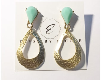 New stud dangle earrings