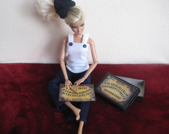 Sale Barbie Doll Ouija Board Game,  Doll Accessories,  Barbie Doll Clothes, Miniature Ouija Board, Barbie Doll Accessories