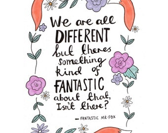 Fantastic Mr Fox A5 quote print