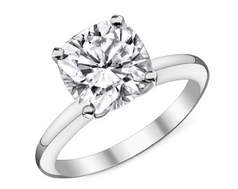 Cubic Zirconia Engagement Ring Solitaire engagement ring 14K
