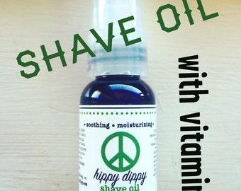 organic shave oil with vitamin e