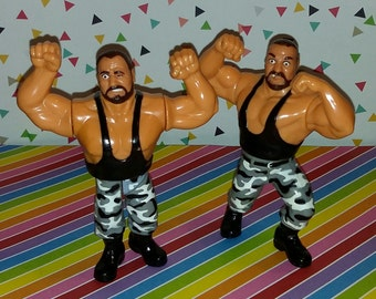 Vintage 1990s WWF Hasbro Bushwhackers Luke and Buthc Wrestling Figures