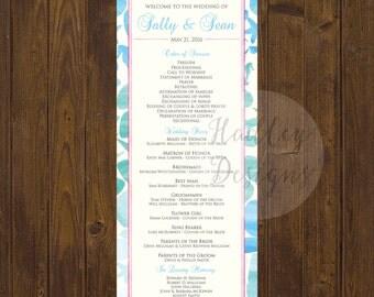Destination Wedding Program, Ocean Wedding Program, Whale Wedding Program, Modern Wedding Program, Elegant Winter Program, Wedding Program