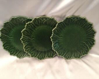Woodfield Dark Green (Tropic),Steubenville Dark Green Dinner Plates,Set of 3 Steubenville Woodfield Dark Green Dinner Plates