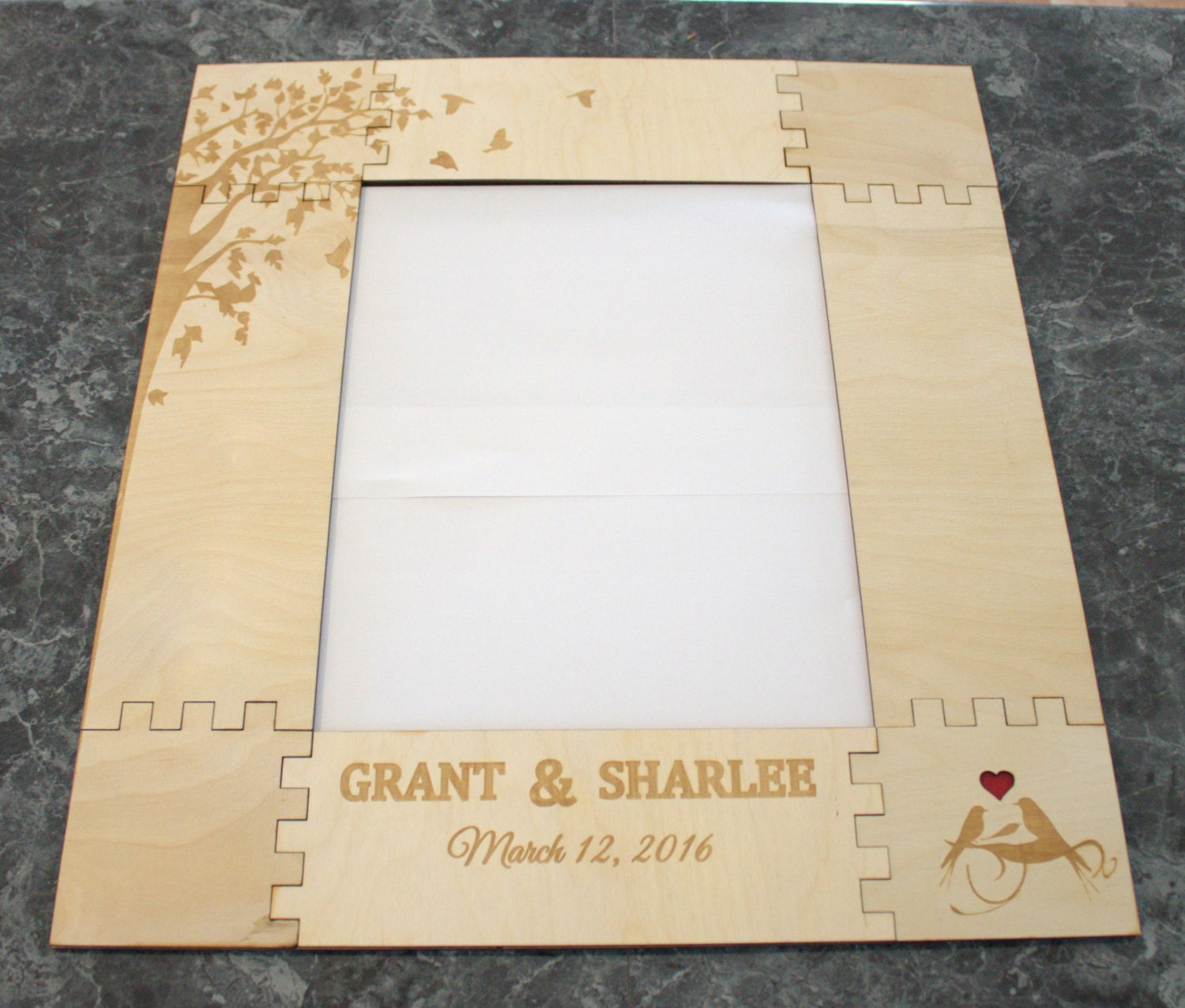 Guest Book For Wedding Wooden Picture Frame