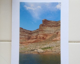 Lake Powell Sky Card, nature photo card, TreesofTransitionArt, 4x6-inch photo, large card, birthday card for man, sky card, Lake Powell, sky
