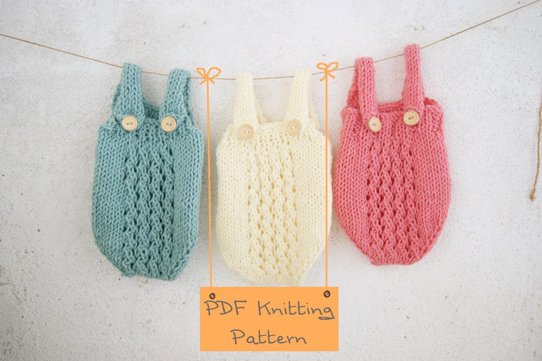 Knitting Pattern Baby Jumpsuit : 121 PDF Knitting Pattern baby Romper / Newborn Knitting pattern Photo props /...