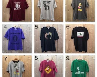 You Choose Grunge Tee, vintage T-shirts, old shirts
