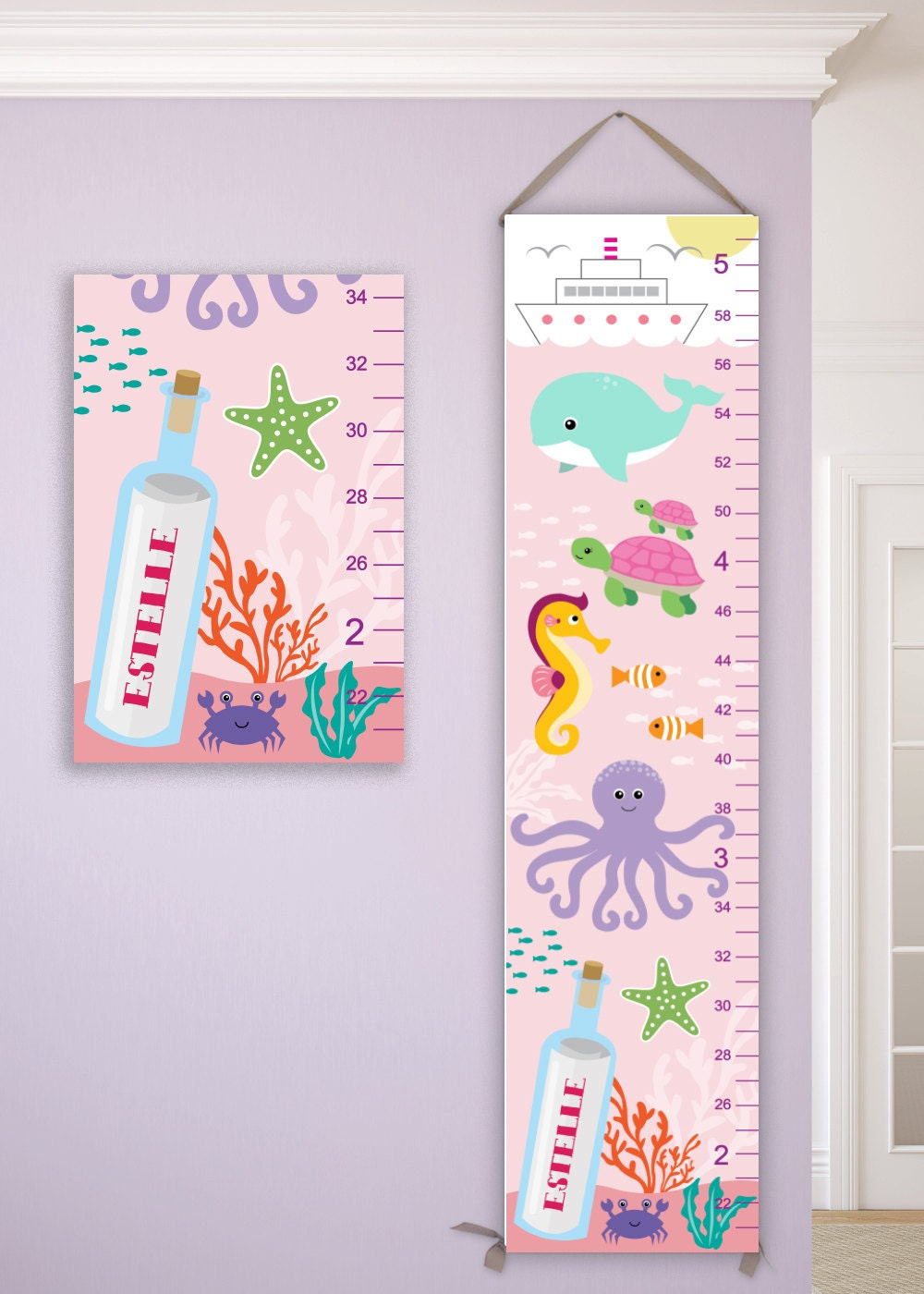 Under the sea growth chart on canvas ocean growth chart nautical jolieprints nvjuhfo Image collections