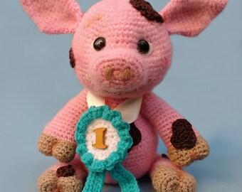 Elfin Thread- Francis the Piglet Amigurumi PDF Pattern (crochet Pig Pattern)
