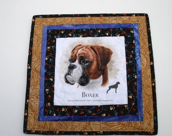 Boxer Mini quilt -  handmade -  quilt - wall hanging - table top - dog