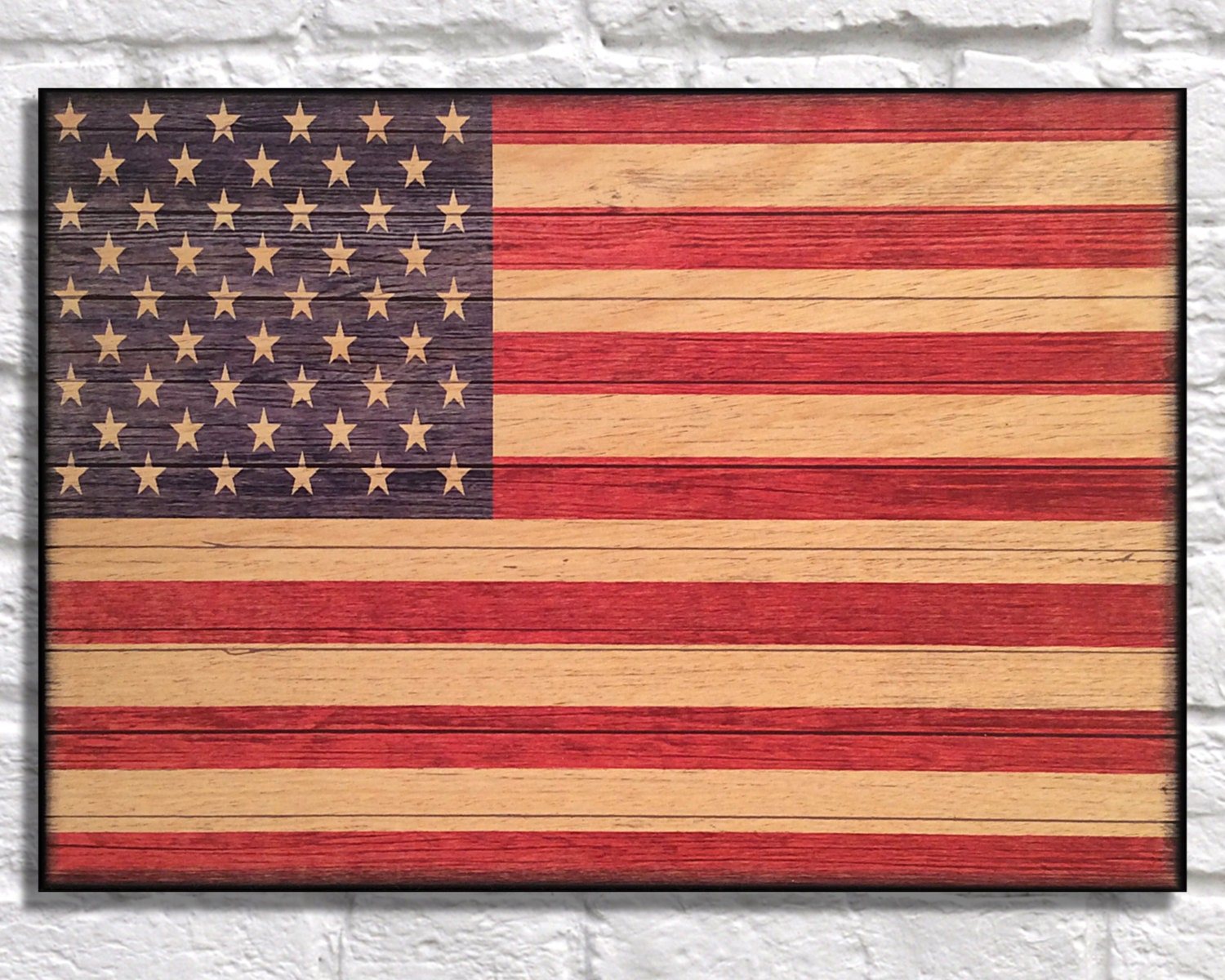 Patriotic Wall Decor U S Flag Wood Art Wood Wall Art By