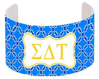 Sigma Delta Tau Cuff Bracelet