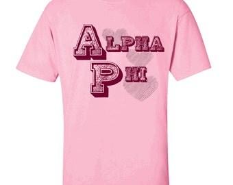 Alpha Phi Typographic Tee