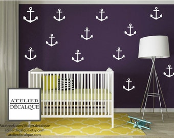 Wall decal no. S -019 - boat anchor- Decal
