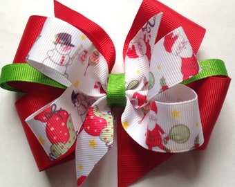 Merry Christmas Boutique Hair Bow