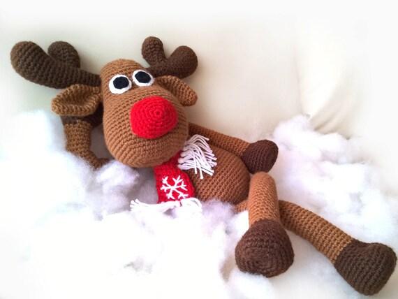 Crochet Christmas Deer Patterns Rudolph Toy Reindeer