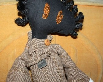 """Tattered Doll, Handmade - Name is Zahra - Large Rag Doll, 18""""+, Long Raggedy Companion Doll"""