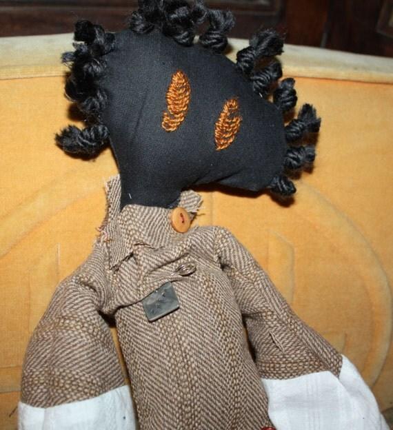 Tattered Doll Handmade Name Is Zahra Large Rag Doll