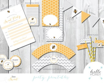 Party pack - Bee Themed! INSTANT DOWNLOAD
