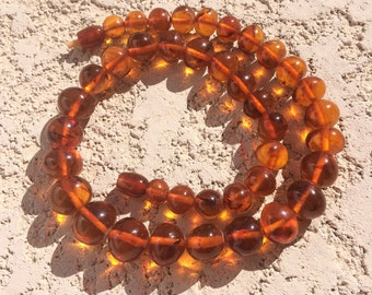 Vintage Genuine Baltic amber beaded necklace 18""
