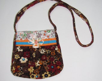 Brown corduroy bag, girl accessories,